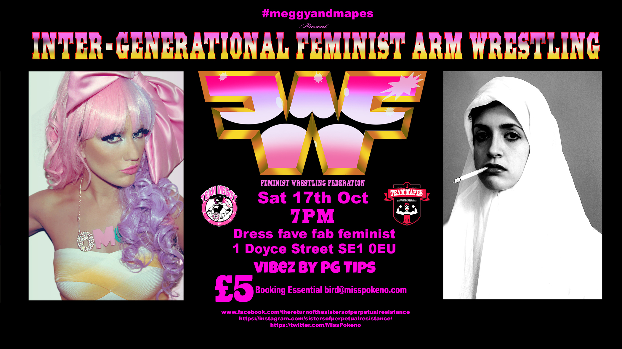Meggy and Mapes present Intergenerational Feminist Arm Wrestling