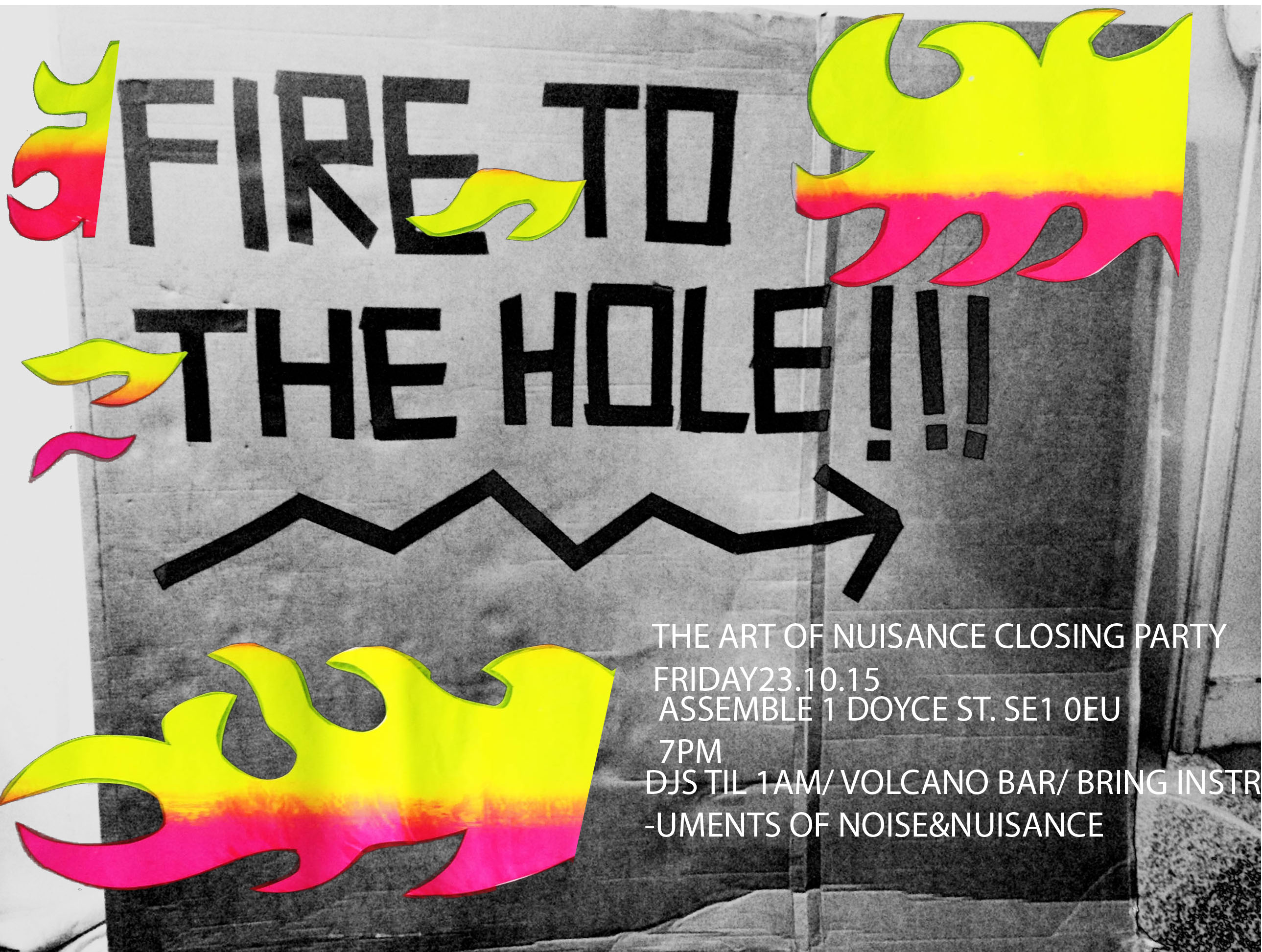 fire to the hole invite