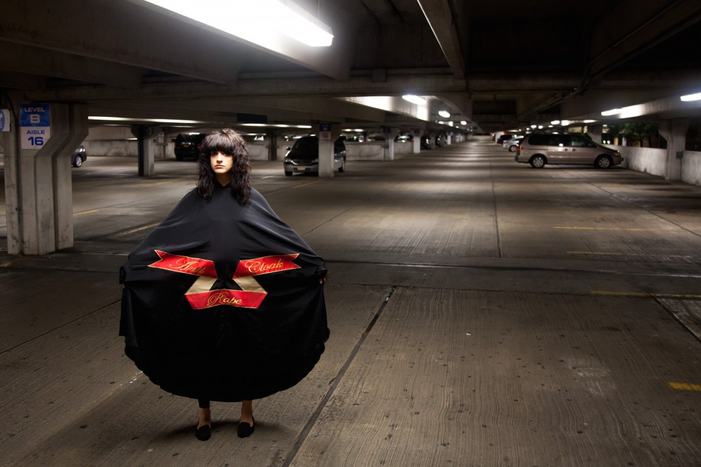 Sarah Maple Anti Rape Cloak - carpark copy