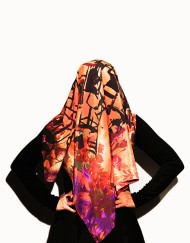 Armchair Destructivists Sisters of Perpetual Resistance silk scarf light modelled tall 72