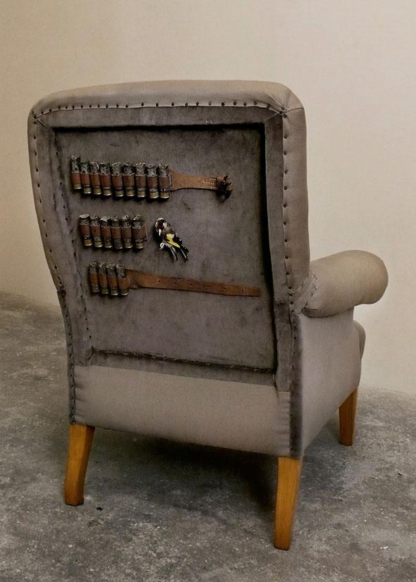 Bad Bird Chair back detail